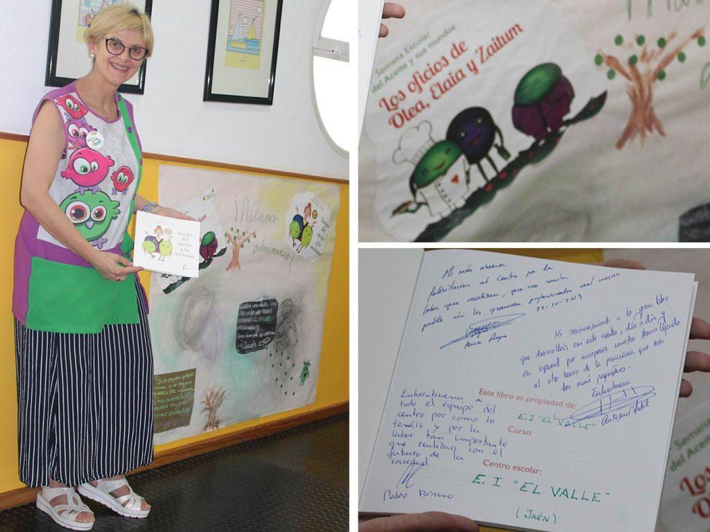 Directora de Escuela Infantil El Valle muestra reconocimiento en la Jornada del Aceite