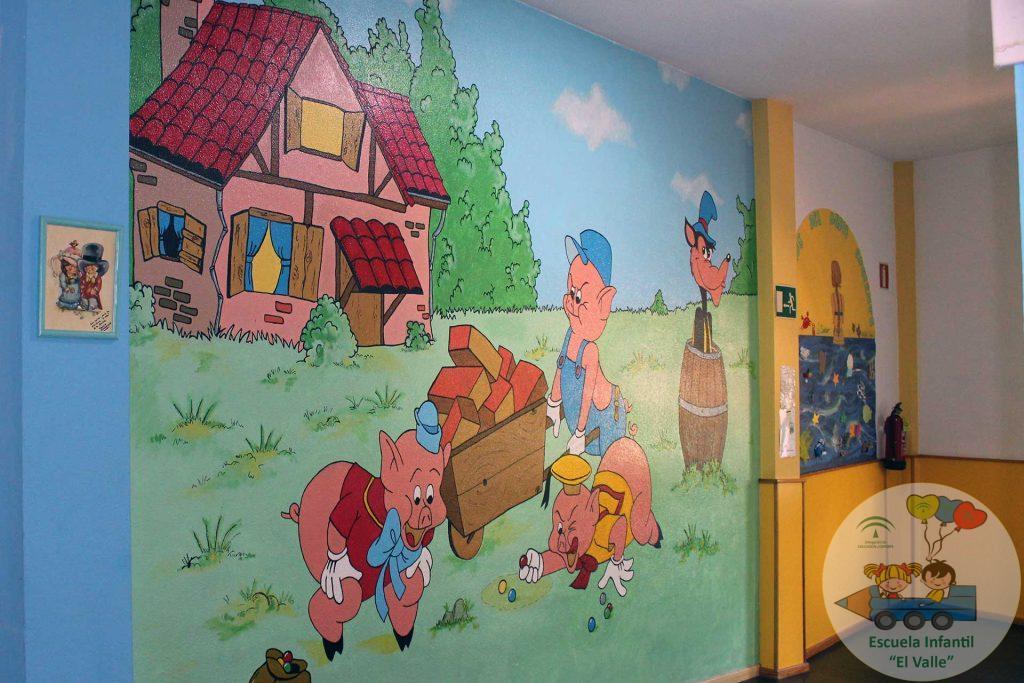 Decoración pasillo Escuela Infantil El Valle