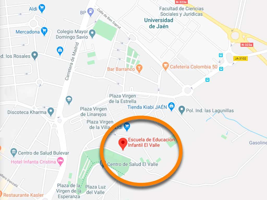 Escuela Infantil El Valle ubicación en Google Maps