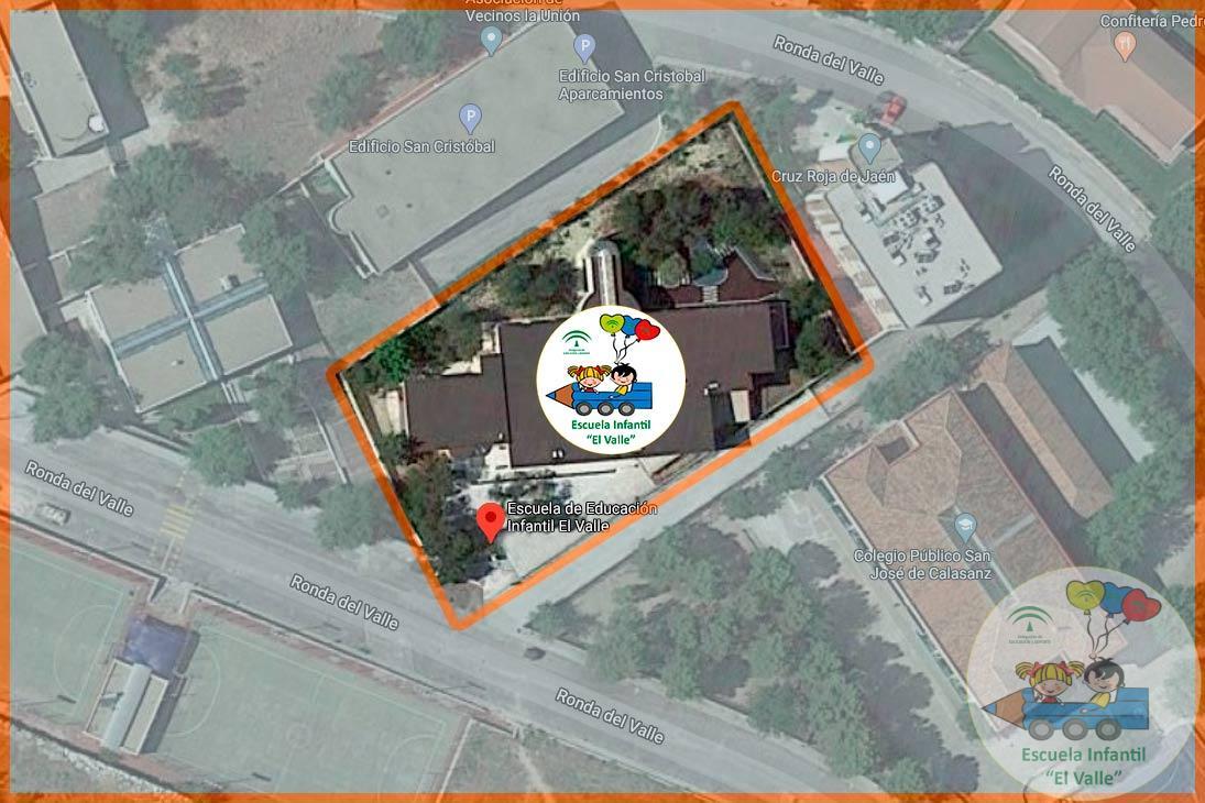 Escuela Infantil El Valle de Jaén vista aérea